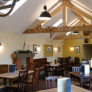 Inside the new pub extension